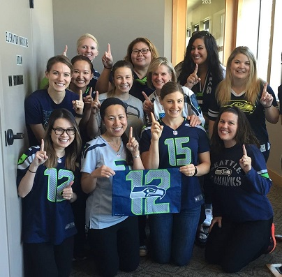 Our Seattle Seahawks Team at Mukilteo Dental Center